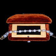 """Important Antique Art Nouveau Era Fancy 18k Gold Baroque Pearl Bracelet 7.25"""""""