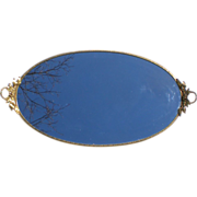 StyleBuilt Oval Ormolu Perfume Vanity Tray with Handles