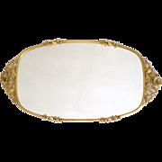 Large Matson Ormolu Perfume Vanity Tray Dogwood Pattern 24K Gold Plate