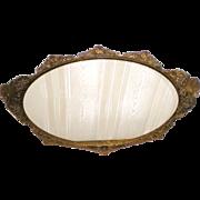 Apollo Studios Ormolu Oval Perfume Mirror Vanity Tray