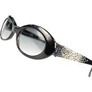 Escada Sunglasses from France 1980s with Rhinestones - Red Tag Sale Item