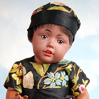 Very Rare Black Hilda In Silk Brocade Chinese Costume!!!
