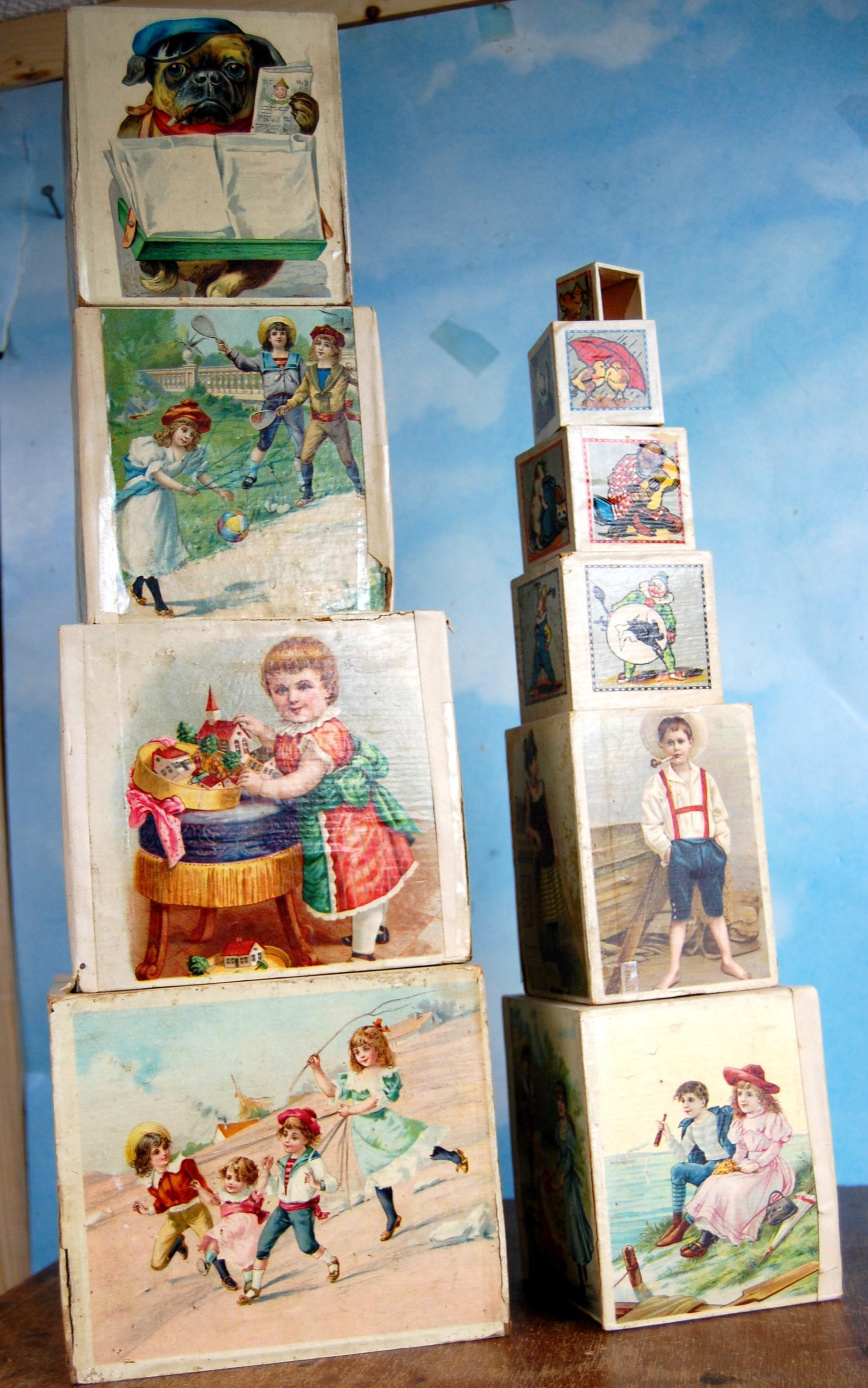 Early 1900 Paper Litho Doll Blocks! Nice condition.!