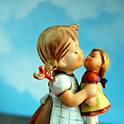 "German Goebel Hummel ""Kiss Me"" Doll Holding Doll! Perfect for Doll Collectors and Quite Rare!"