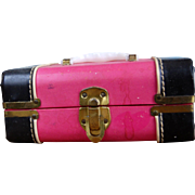 1950's Hot Pink Ginny Case Trunk ! Nice