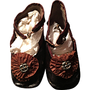 Size 10 French Doll Shoes Clover  Leaf Stamp!