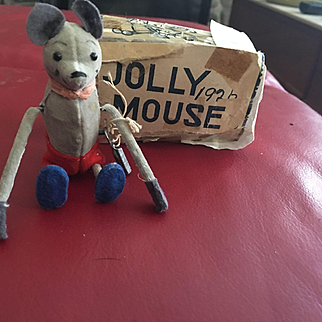 In oginigal box! Micky Mouse wind up tumbling Mouse! 1928