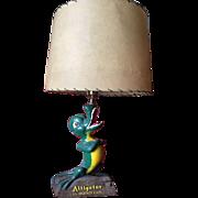 Rare Alligator. All-Weather Coats Lamp!