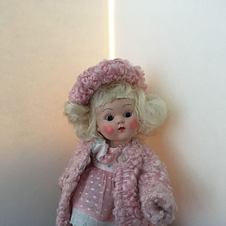 Ginny 1952 #86 Pink Poodle Coat Platinum Hair Beauty!