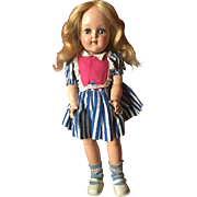 "P-91  15"" Toni Doll by Ideal All Original tagged dress!"
