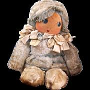 Baby Dumplings Circa: 1939 all Cloth Kewpie Like Doll Cuddly!