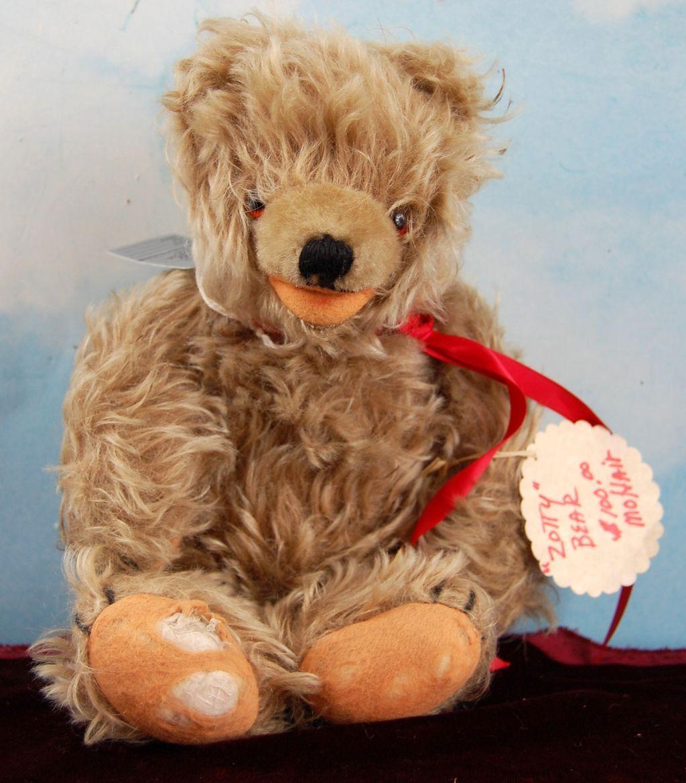 "11"" Vintage Zotty Bear! Fluffiest Bear Ever! Rare Cinnamon Color!"