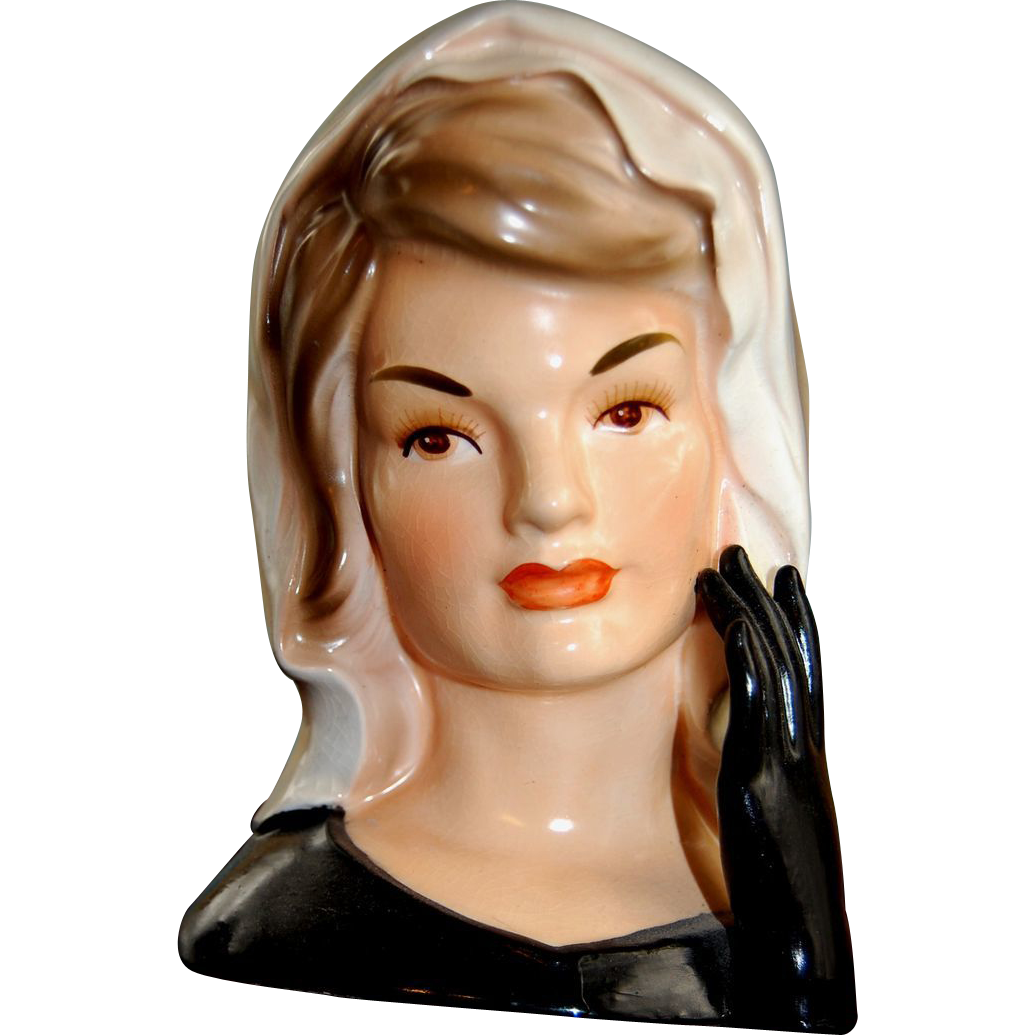 Rare jacqueline kennedy head vase not many made 1964 aunt rare jacqueline kennedy head vase not many made 1964 aunt sallys doll shop ruby lane reviewsmspy