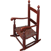 Small Red Painted Rocker