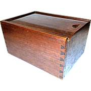 NC Walnut Candle Box (19th Century)