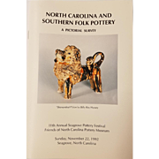 "Book entitled ""North Carolina and Southern Folk Pottery"""