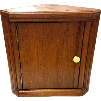 Miniature Walnut Corner Cabinet