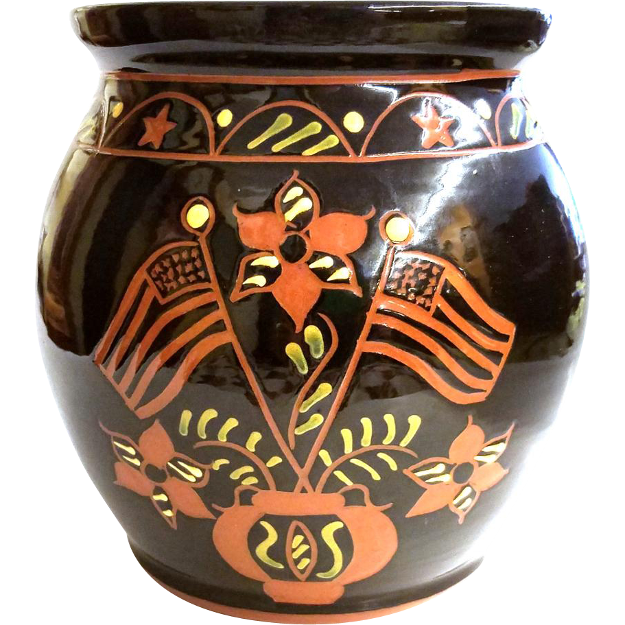 Brenniger Pottery (PA) Slip Ware Jar