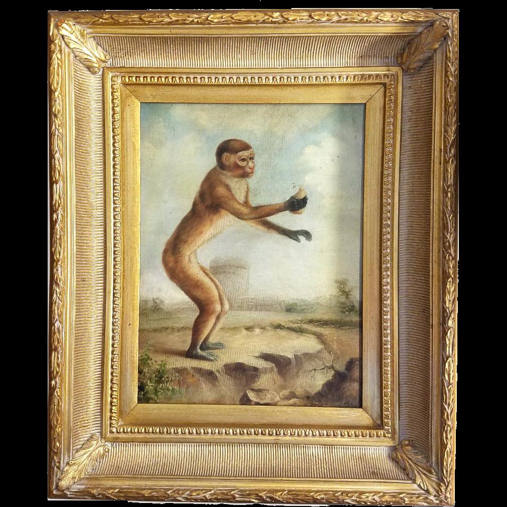 Vintage Monkey Painting