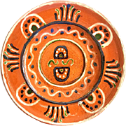 Slip Ware Decorated Plate