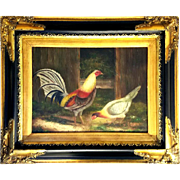 Painting of Rooster and Hen