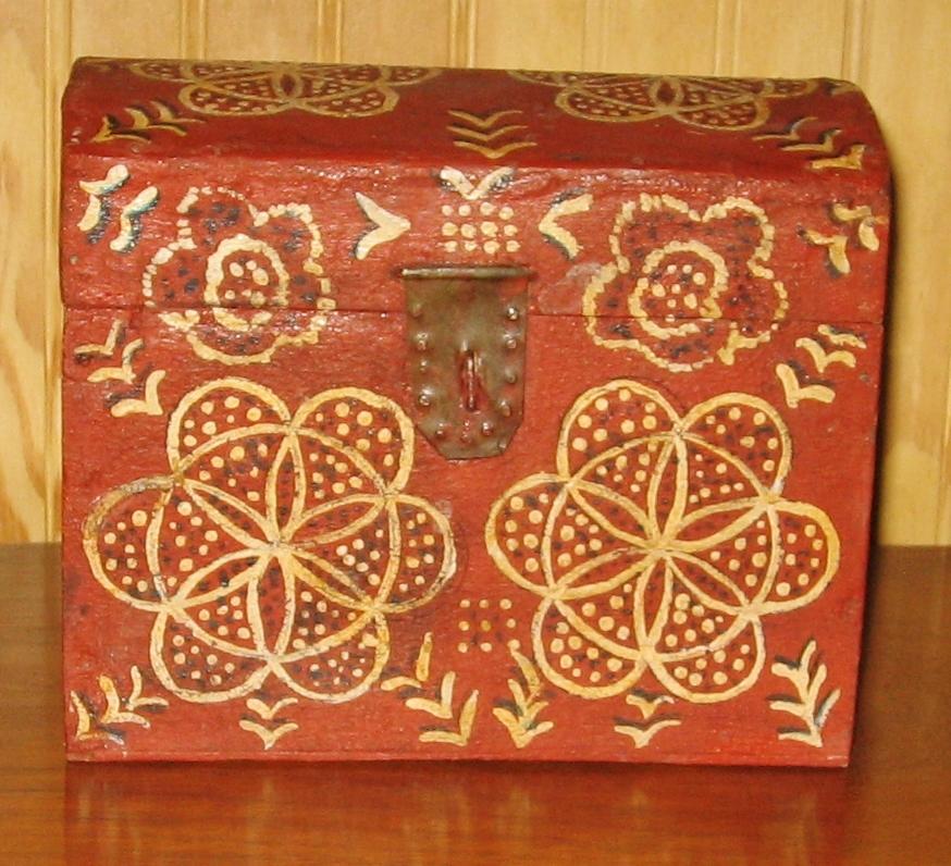 Folk Art Compass Box
