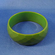 Bakelite Transparent Green Bracelet