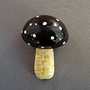 Original by Robert Enamel Mushroom Pin