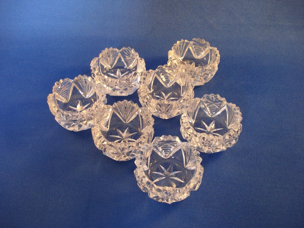 Cut Glass Salt Dips - Vintage