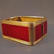 """""""Ciner"""" Gullioche Enamel Rare Bracelet"""