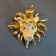 """Lancer"" Lion Head Pin/Pendant"