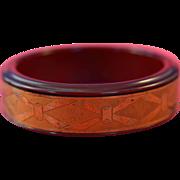 'Marlowe Cosmetic ' Bakelite Cuff Bracelet