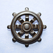 Nautical - Ship's Wheel Pin - Bakelite