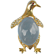 Penguin Jelly Belly marked Trifari
