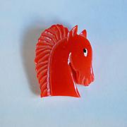 Bakelite Horse Pin by JL Foltz
