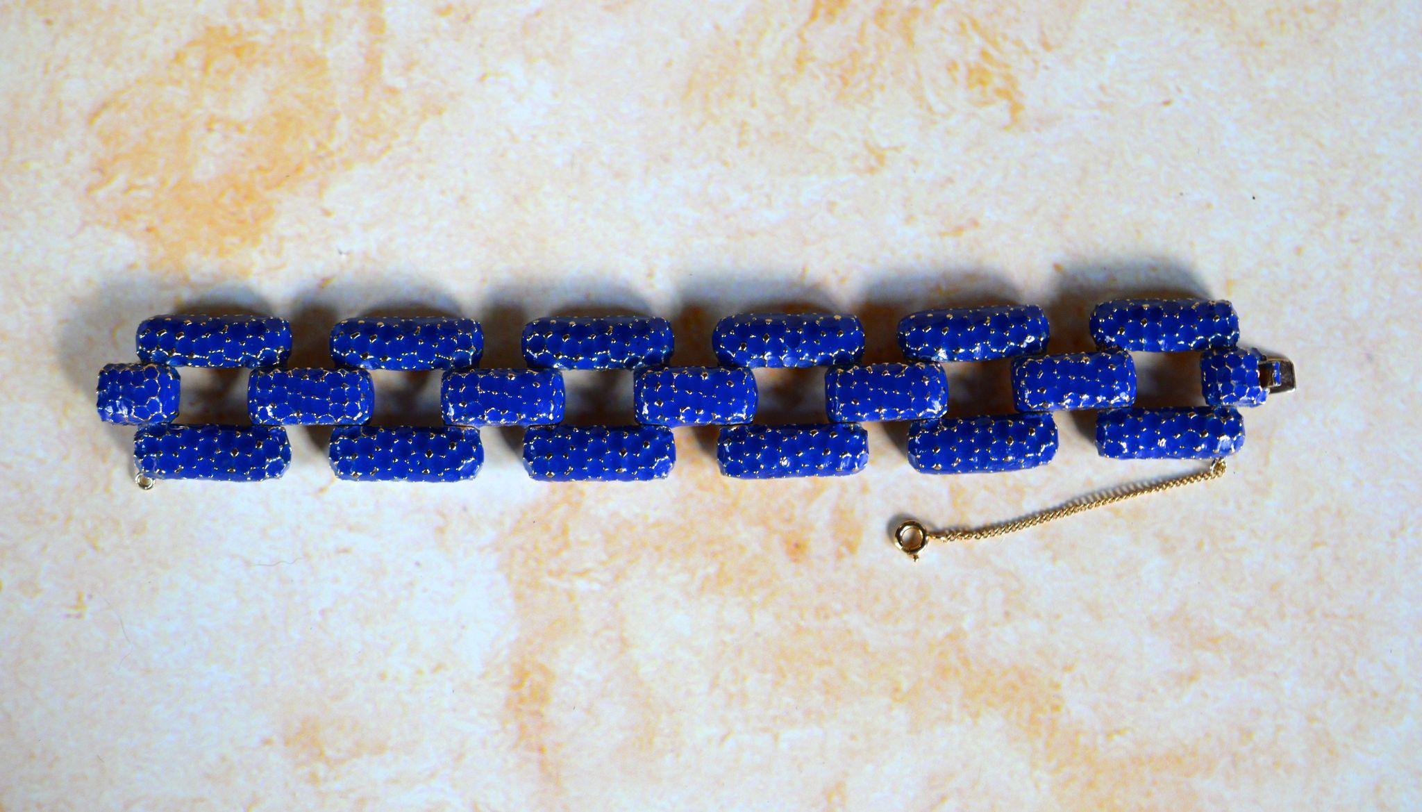 Ciner Art Deco Enamel Bracelet