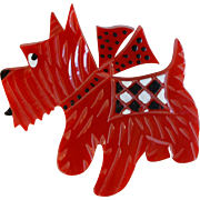 J. L. Foltz Bakelite Scottie Pin