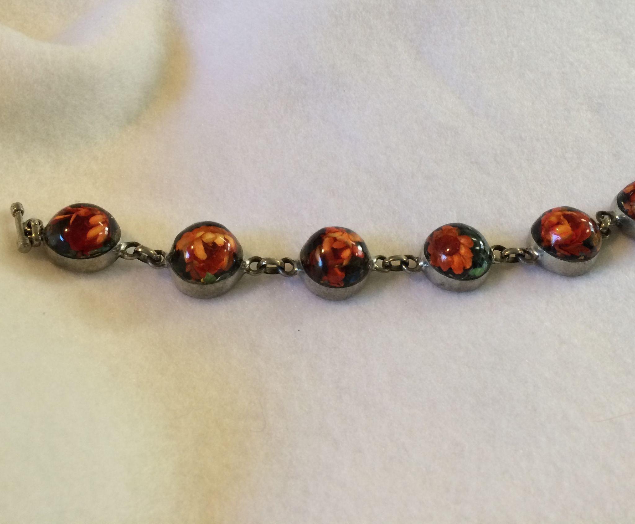 Lucite Flower Bracelet
