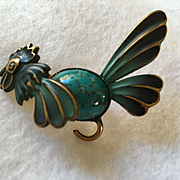 Enamel Rooster Pin