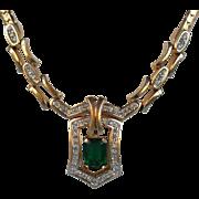 Panetta Imitation Emerald Necklace