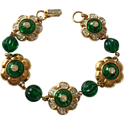 Swarovski Faux Emerald Bracelet