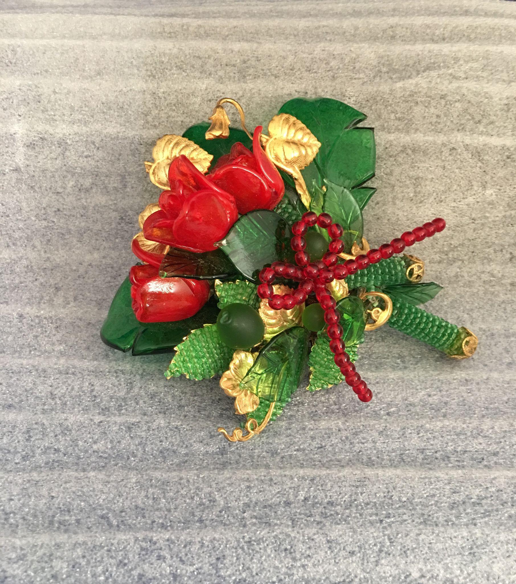 Stanley Hagler Red Roses Pin