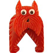 Googlie-eyed Scottie Dog Pin