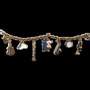 Coro 1950's Enameled Charm Bracelet