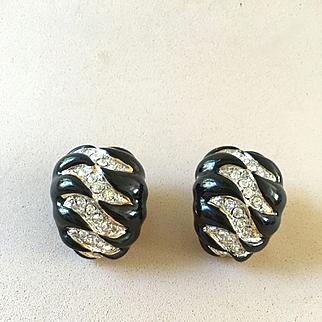 Kenneth Lane Enamel Earrings