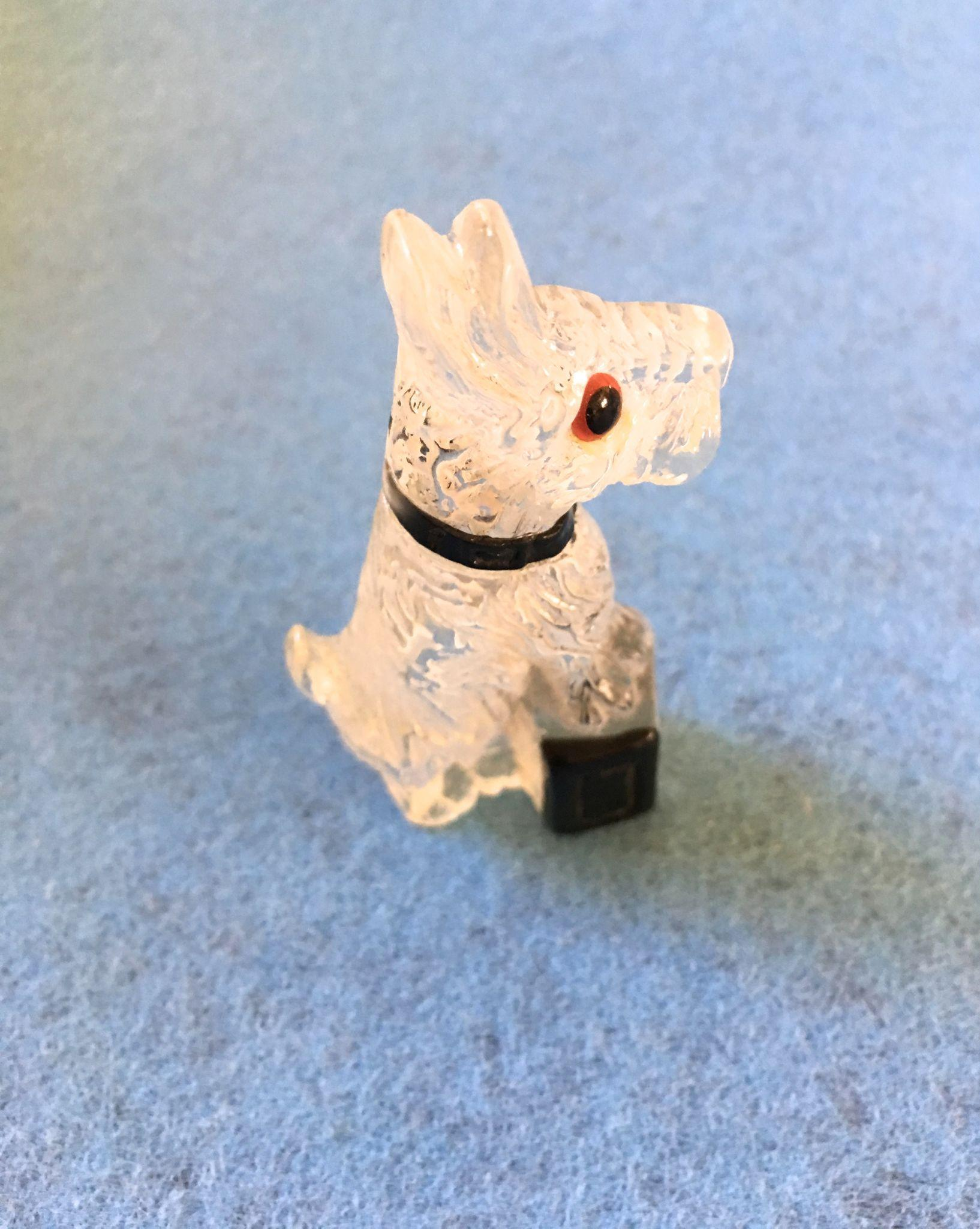 Lucite Terrier Dog Pin