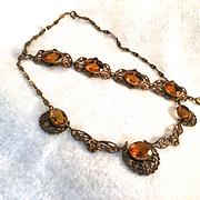 Art Nouveau Necklace/Bracelet Demi-Parure