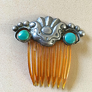 Matilde Eugenie Poulat Sterling/Tq. Hair Comb