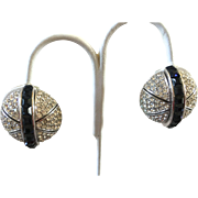 Ciner Deco Revival Clip Earrings