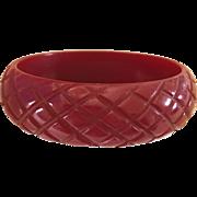 Hand Carved Bakelite Bangle